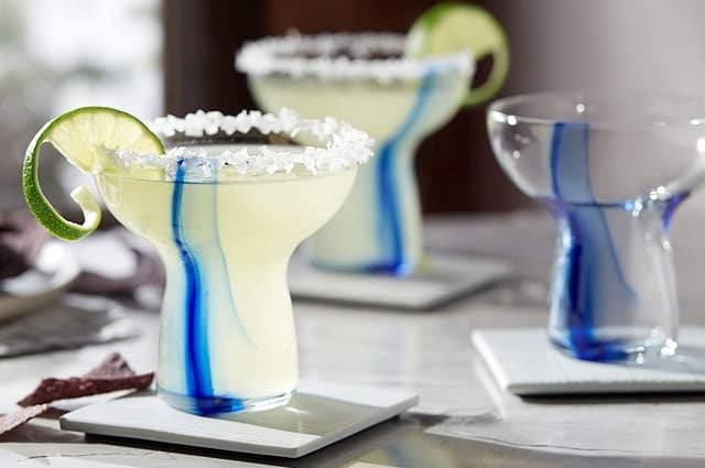 Libbey Blue Ribbon Stemless Margarita Glasses