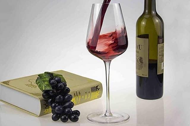 Hand Blown Crystal Bordeaux Wine Glasses