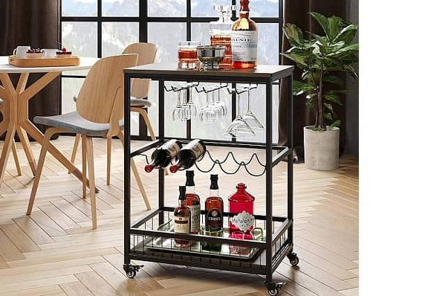 Mobile Bar & Serving Cart