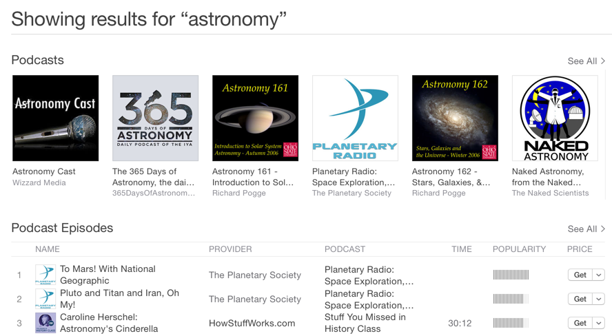 Astronomy Podcasts