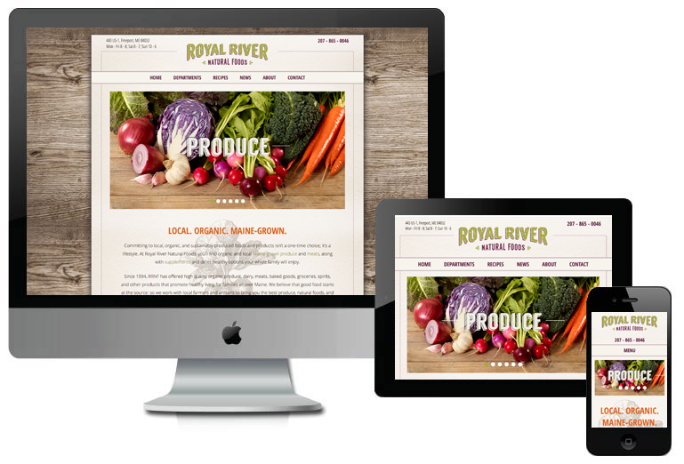 Royal River Natural Foods Custom WordPress Website
