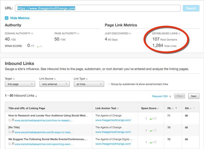 How to use Open Site Explorer to count inbound links