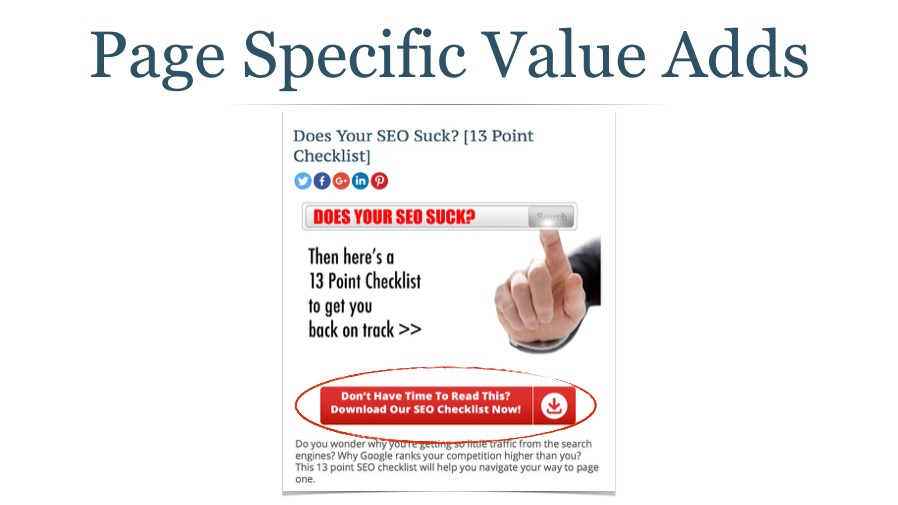 Adding a Value Add Signup Box to a Blog Post