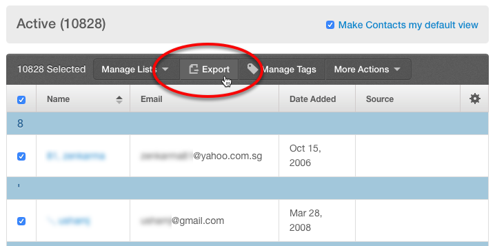 Exporting your email list to take it with you