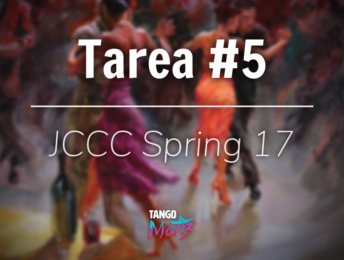 Tarea #5 – JCCC Spring 17