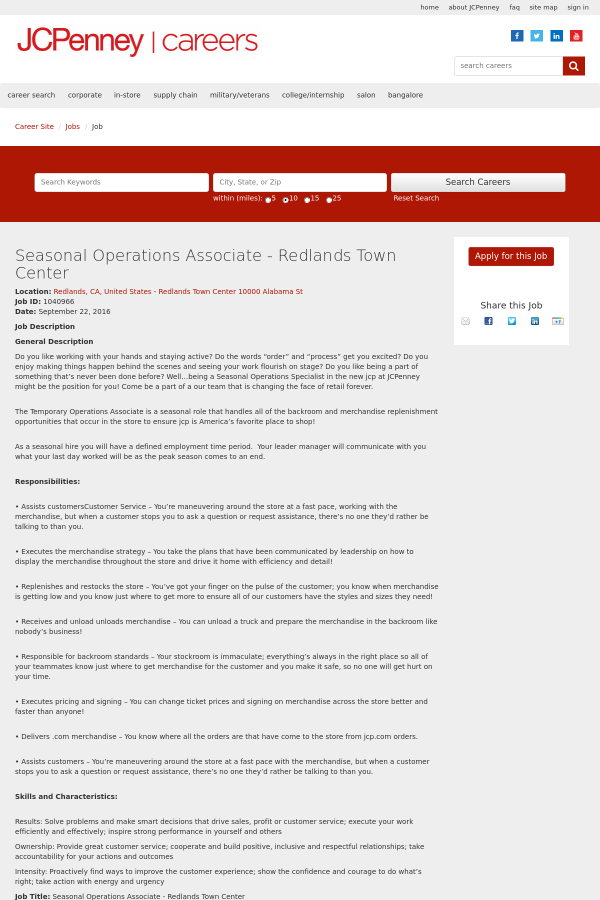 your operations associate job description - Production Associate Job Description