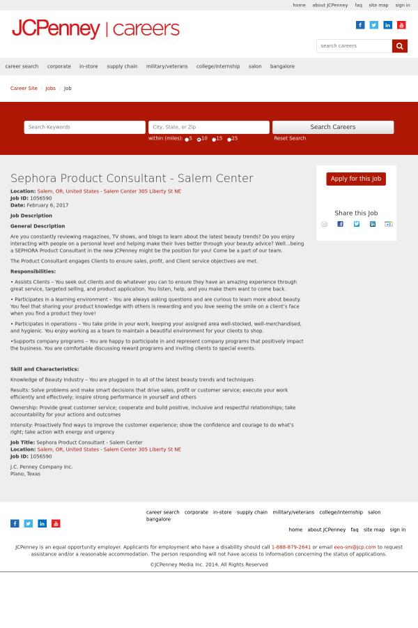 sephora product consultant - Product Consultant Jobs
