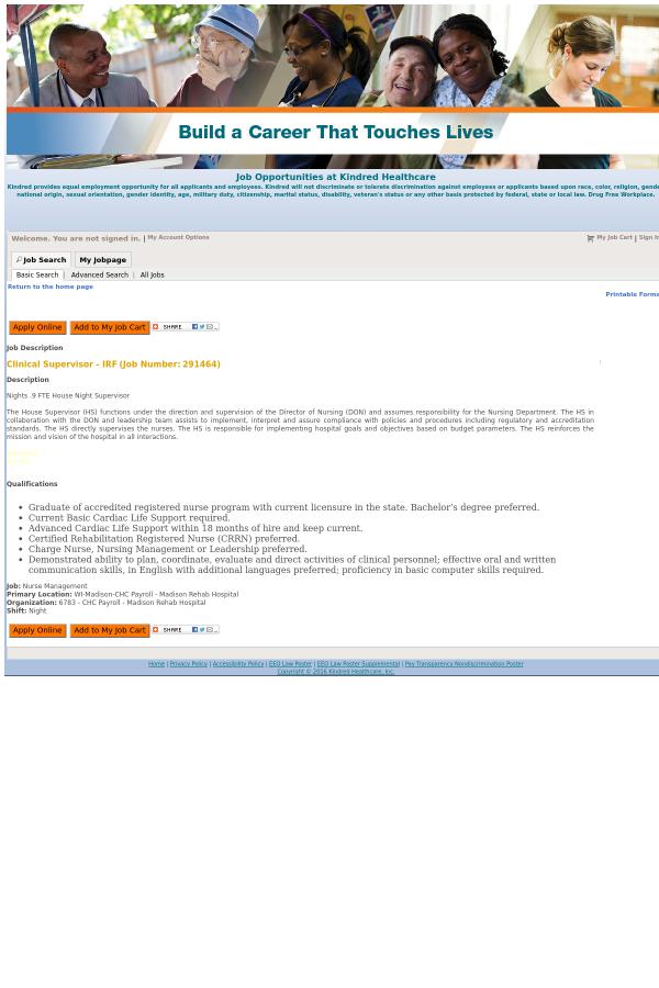 the - Clinical Supervisor Job Description