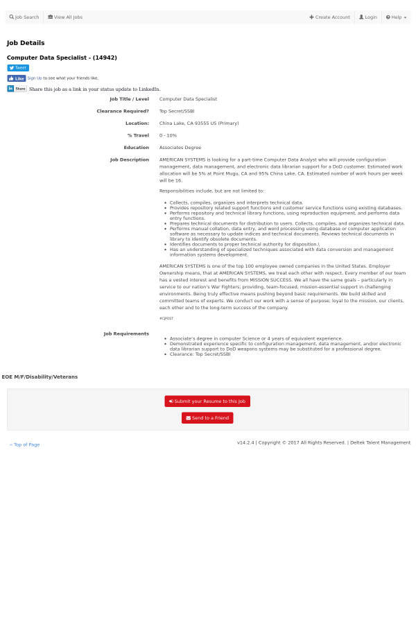 estimated data specialist jobs - Data Specialist Job Description