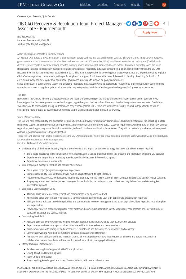 associate program manager job description