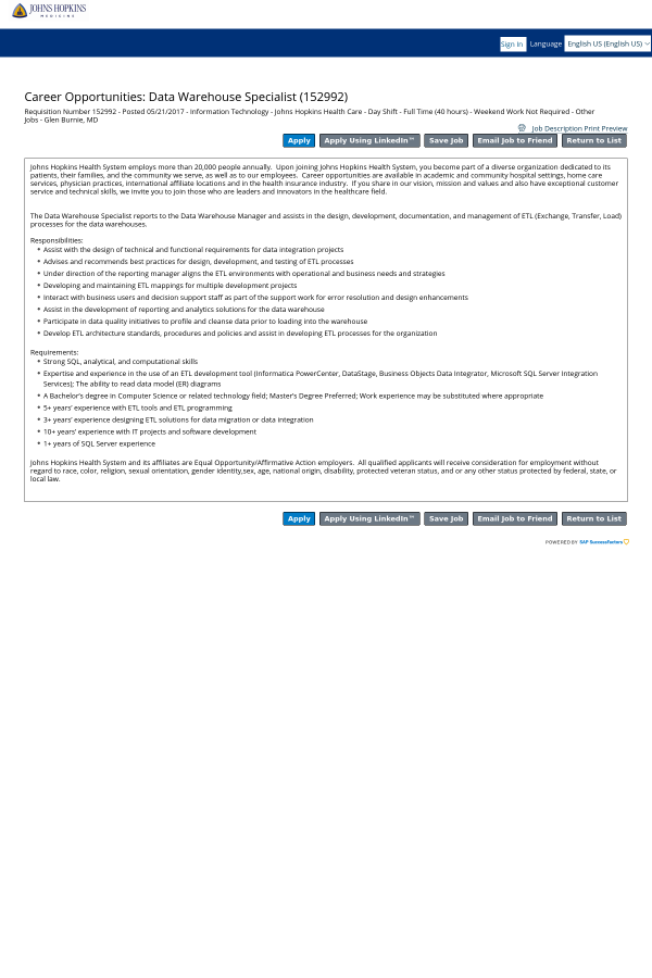 johns hopkins bayview medical center. Resume Example. Resume CV Cover Letter