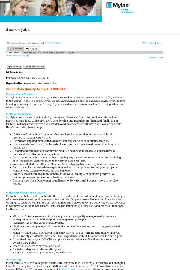 Data Quality Analyst Job Description. Sample Resume Of Data ...