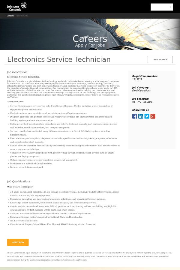 job description electronic service technician. Resume Example. Resume CV Cover Letter