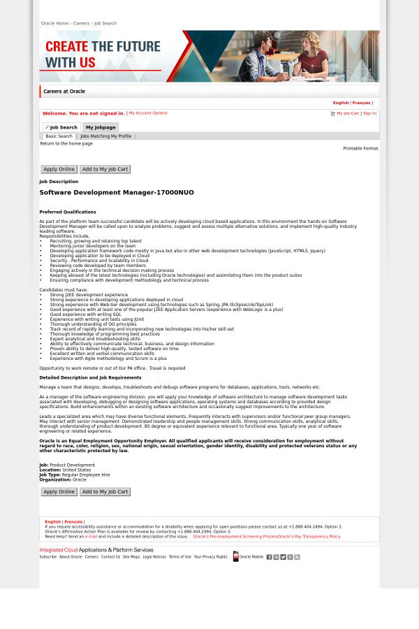build enhancements application development manager job description - Application Development Job Description