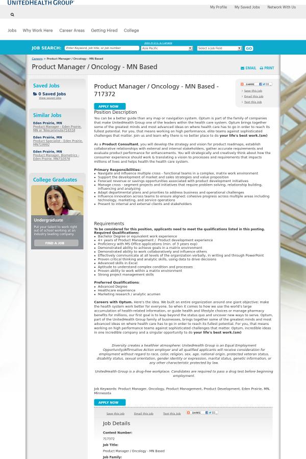 position description - Product Consultant Jobs
