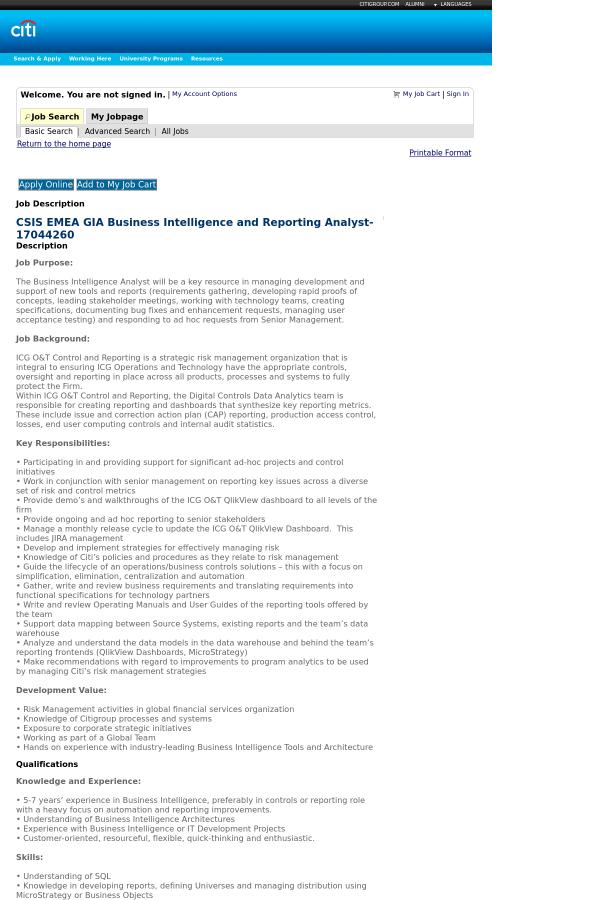business analyst job description for business intelligence 1 ...