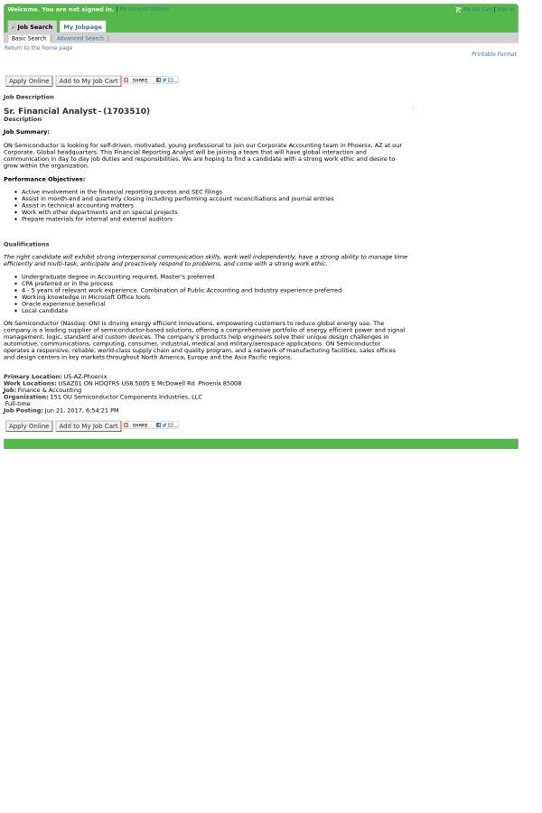 account analyst job description