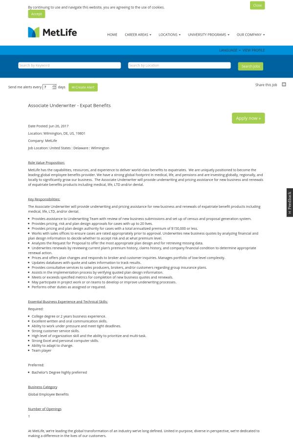 underwriter job description