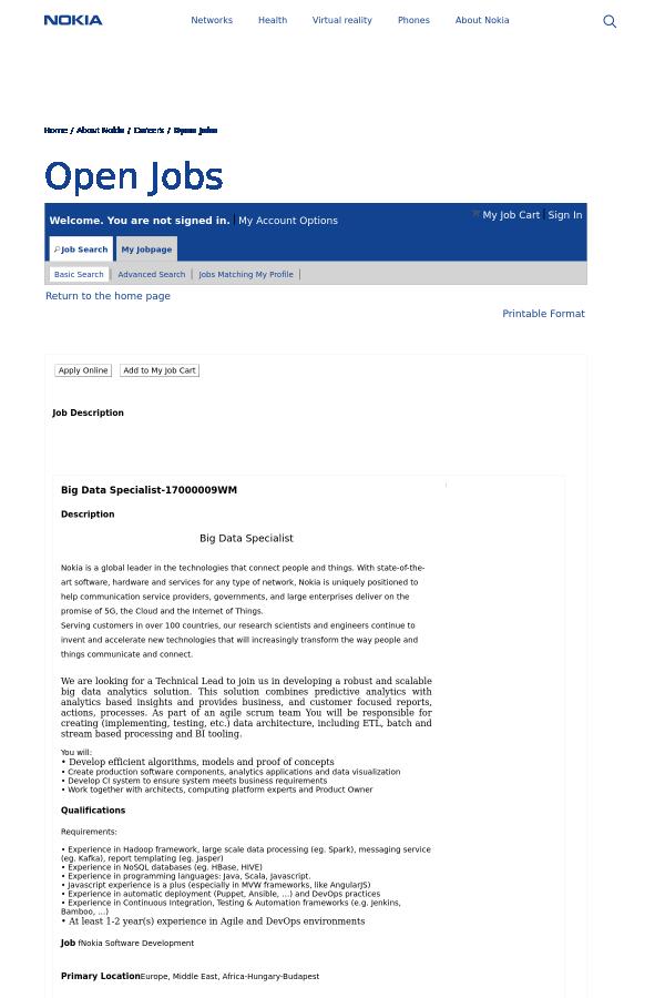 description big data specialist - Data Specialist Job Description