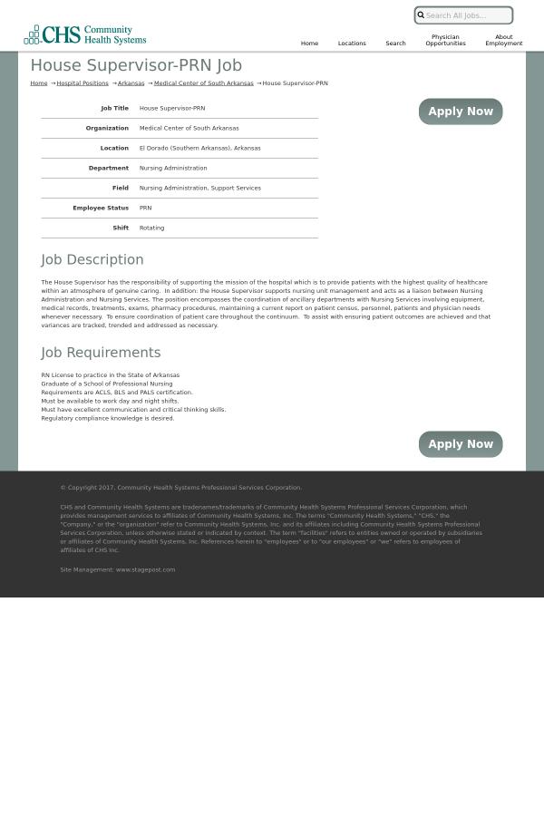 nursing house supervisor job description