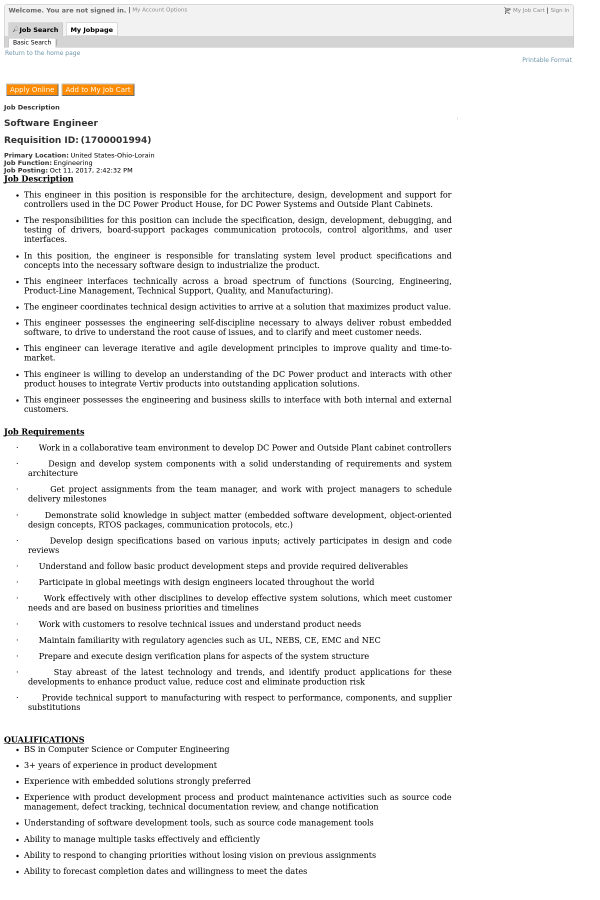 Outside Plant Engineer Cover Letter] Outside Plant Engineer Cover ...