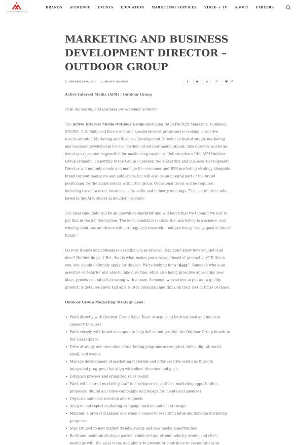 Development Director Job Description Ecochemics Tk