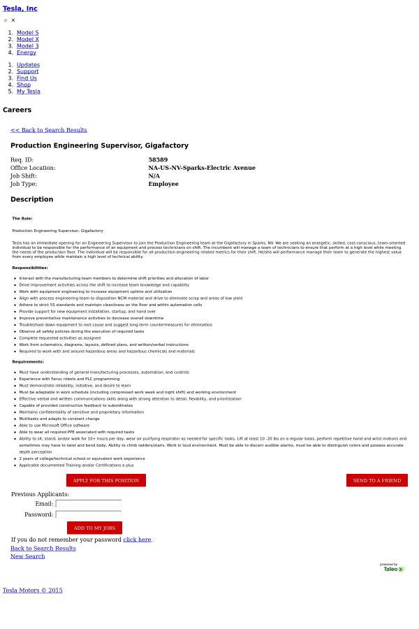 the role production engineering supervisor - Production Engineering Job
