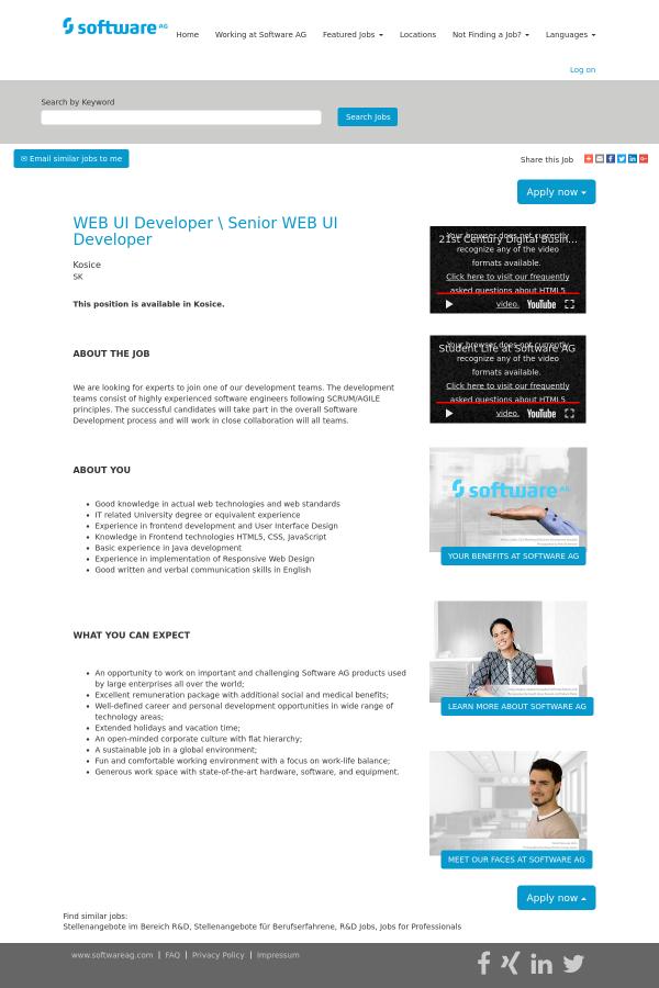 Beautiful Web Developer Stellenangebote Vignette - FORTSETZUNG ...