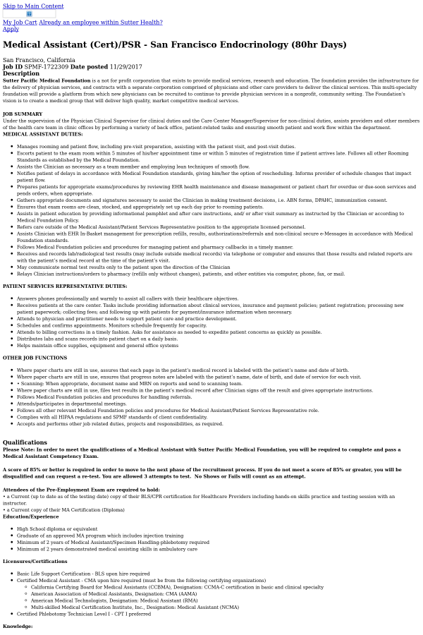 Medical Assistant Tasks] Duties Of Medical Assistant ...