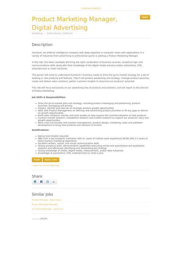 product marketing manager resume marketing resume skills