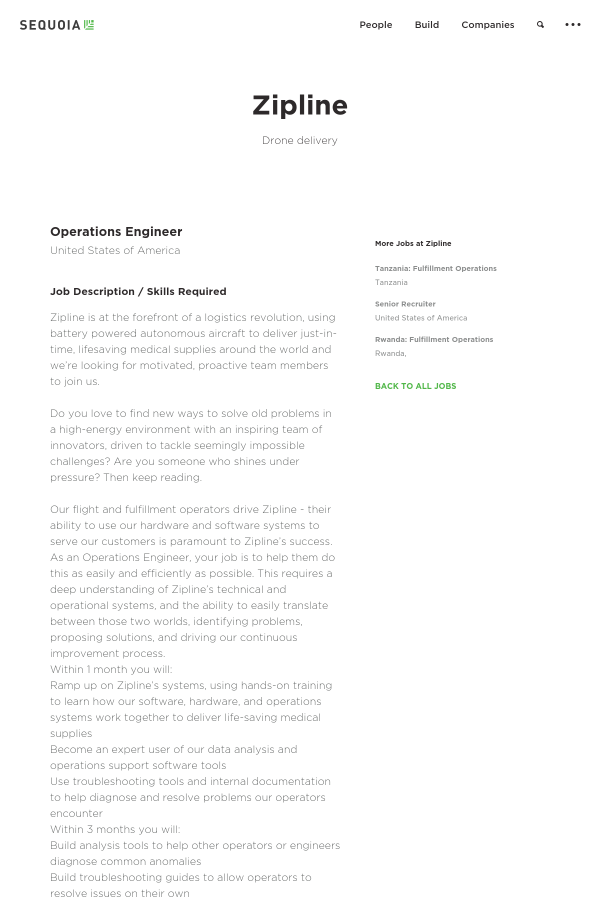 Operations Engineer job at Zipline in United States - 10917471 ...