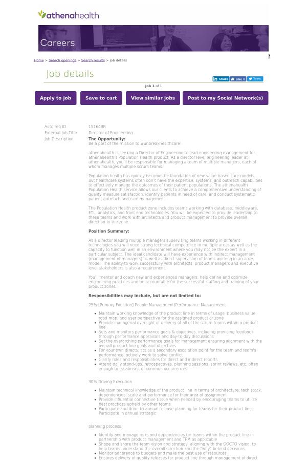 auto req id 15164br external job title director of engineering job description