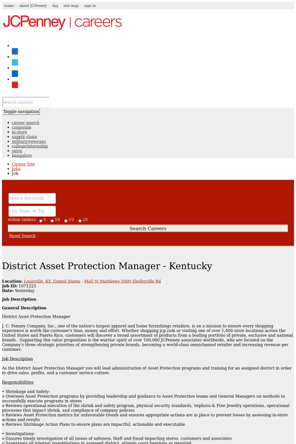 district asset protection manager