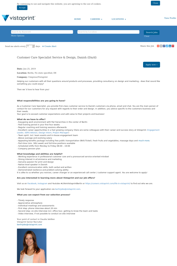 Customer Care Specialist Service & Design, Danish (F/M / D