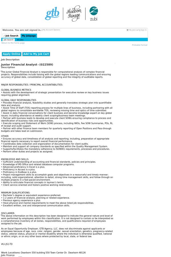 Amazing System Performance Analyst Job Description Festooning ...