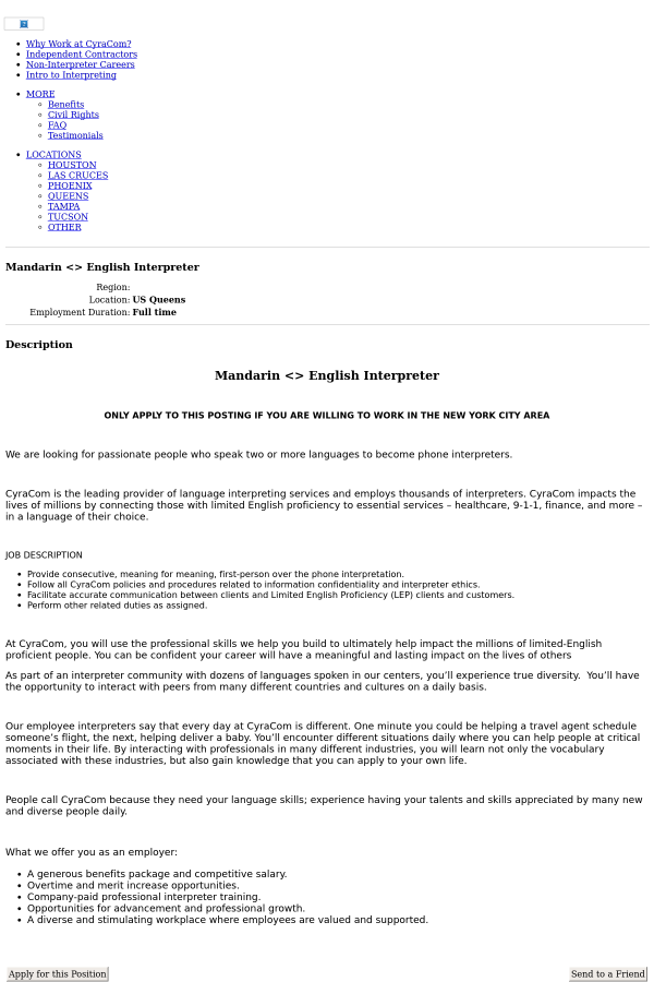 Mandarin English Interpreter Job At Cyracom Language Solutions