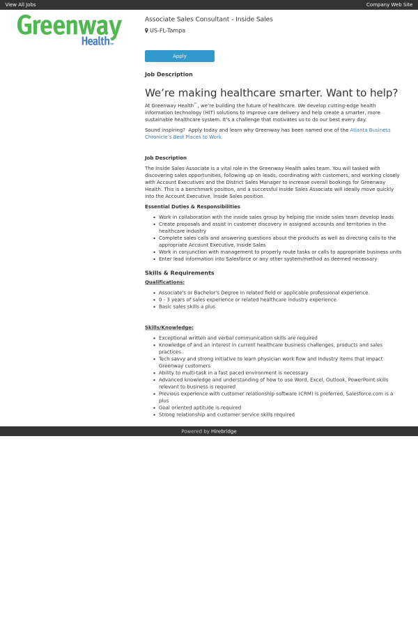 skills applicable for sales associate