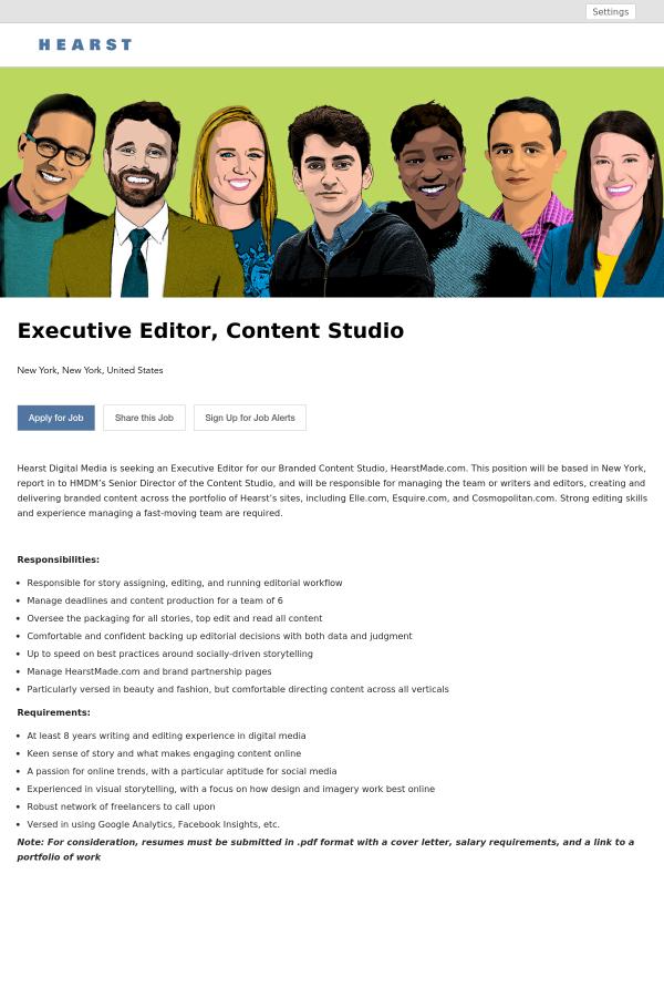 Hearst Digital Media Is Seeking An Executive Editor ...
