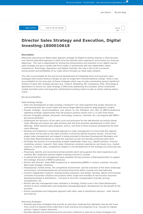 Director sales strategy and execution digital investing job at bmo description malvernweather