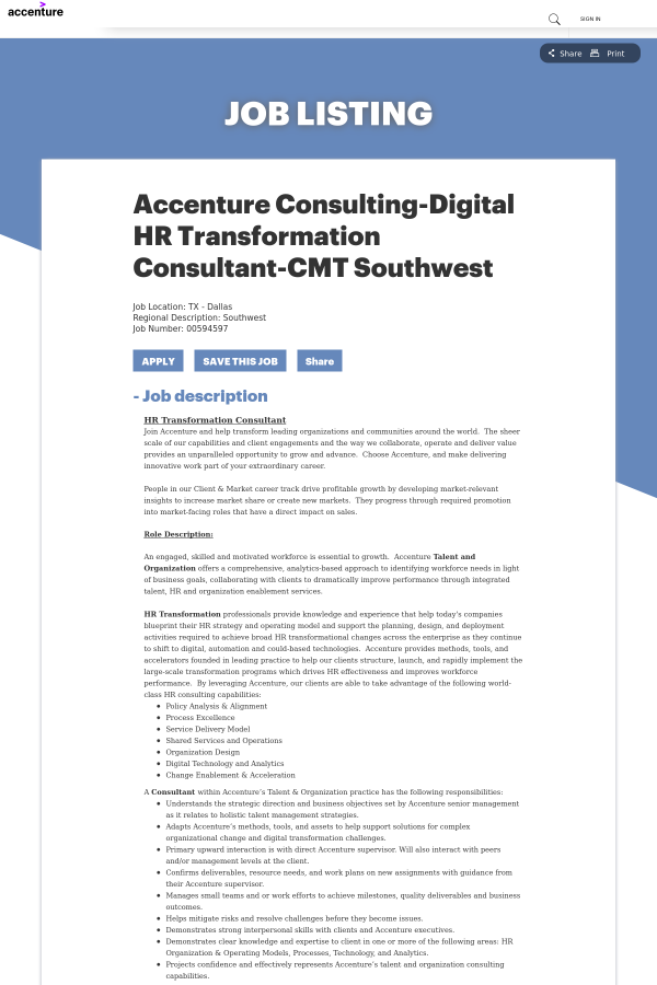 Accenture consulting digital hr transformation consultant cmt 1000 similar jobs thumbnail malvernweather Image collections