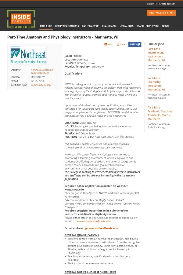 Nett Anatomy And Physiology Teaching Jobs Zeitgenössisch - Anatomie ...