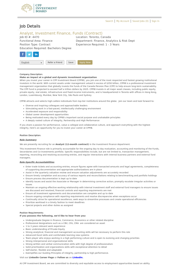 Awesome Investment Performance Analyst Job Description Motif ...