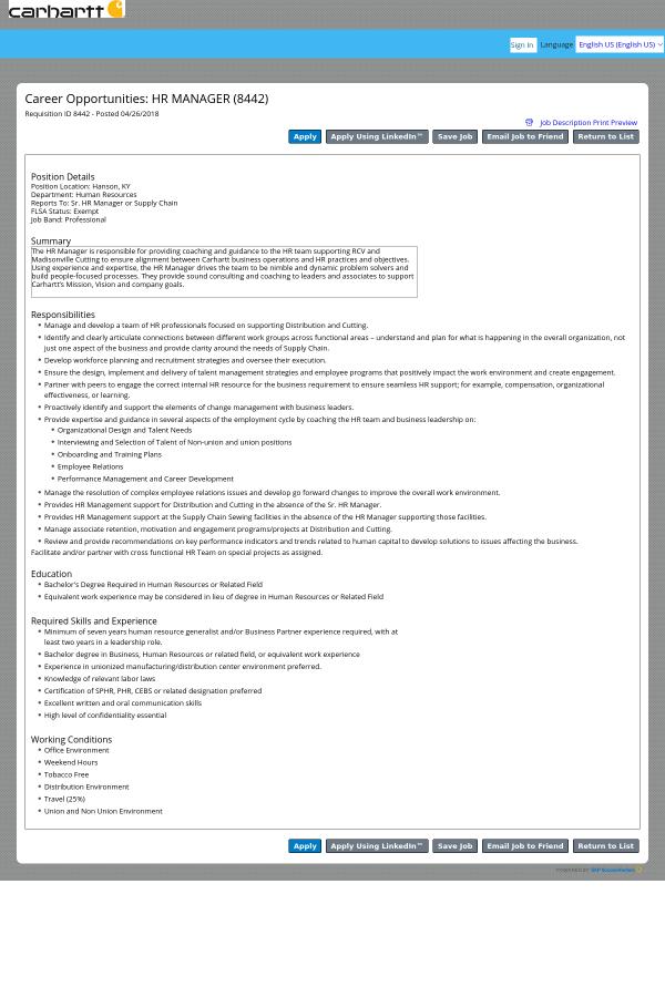 Wonderful Job Description . Position Details
