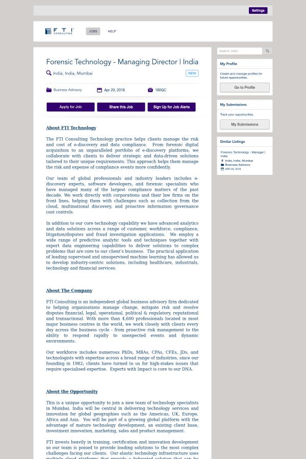 About FTI Technology