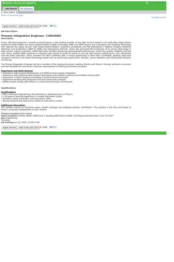 Process Integration Engineer job at ON Semiconductor in