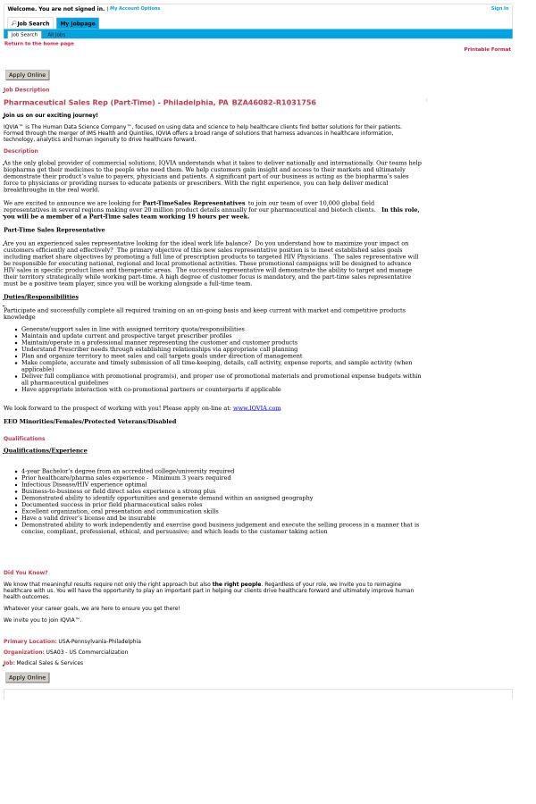 pharmaceutical sales representative jobs