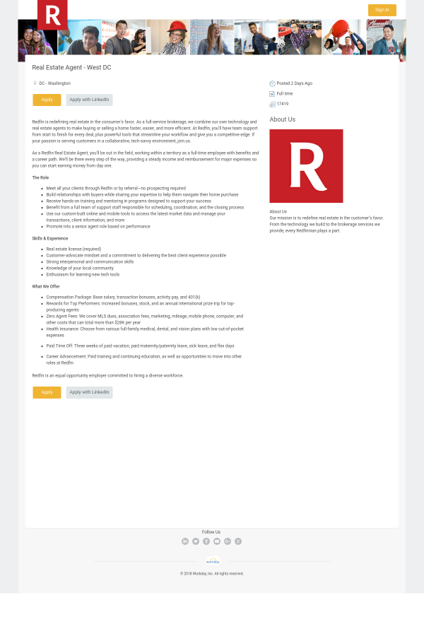 Real Estate Agent - West DC job at Redfin in Washington, DC ...