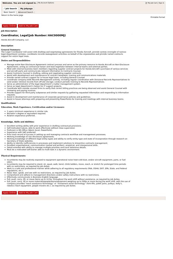 Coordinator, Legal job at Honda in Greensboro, NC - 13316735 ...