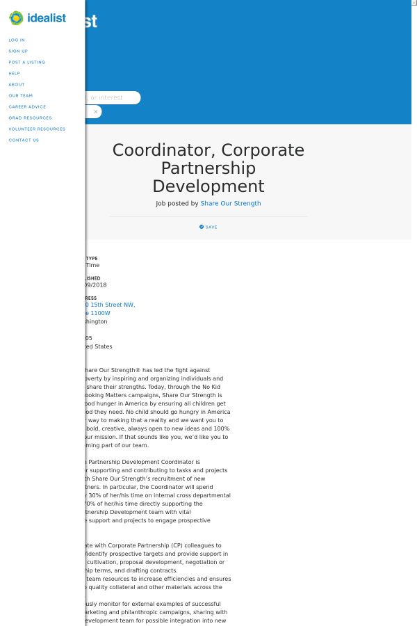 Coordinator Corporate Partnership Development Job At Posted By