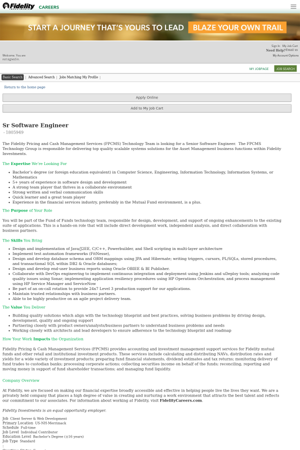 Senior software engineer job at fidelity in merrimack nh 13357635 the malvernweather Images